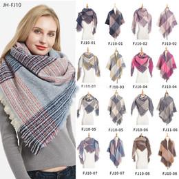 $enCountryForm.capitalKeyWord Australia - 39 Styles woolen Plaid Scarves children Grid Tassel Wrap Oversized Check Shawl Winter Neckerchief Lattice Square Blanket Scarf
