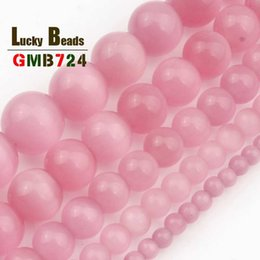 $enCountryForm.capitalKeyWord Australia - pal shipping Smooth Pink Cats Eye Beads Natural Round Opal Loose Stone Beads For DIY Making Bracelet Necklace Jewelry 15inches 4 6 8 10 1...