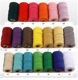Double siDeD printing clothing online shopping - New Textiles m Long Yard Pure Cotton Twisted Cord Rope Crafts Macrame Artisan String High Quality Home Decorative