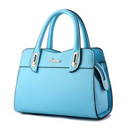 $enCountryForm.capitalKeyWord Australia - Women Bag Vintage Handbag Casual Tote Fashion Women Messenger Bags Shoulder Top Handle Purse Wallet Leather 2018 New Black Blue