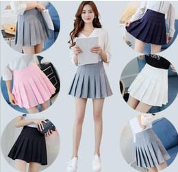 Discount uniforms for girls - Girls A Lattice Short Dress High Waist Pleated Tennis Skirt Uniform with Inner Shorts Underpants for Badminton Cheerlead