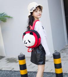 Christmas Panda Cartoon NZ - Panda cartoon backpack for kindergarten designer backpack Soft plush toys Baby Bag Backpack Children School Bags For Girl 1-5T
