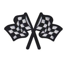Ricamato Patch Bandiere auto da corsa cucire ferro sul ricamo Patch distintivi per borsa Jeans cappello T shirt Appliques fai da te decorazione artigianale