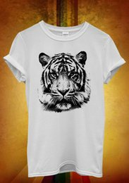 Tiger Tank T Shirts Australia - Leopard Tiger Cat Animal Printed Men Women Unisex T Shirt Tank Top Vest 1055