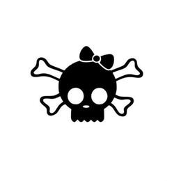 $enCountryForm.capitalKeyWord Australia - 12*8.1cm Fashion Skull Girl W Bow Car Truck Window Vinyl Sticker Decal Monster Cute Cool Graphics Car Sticker