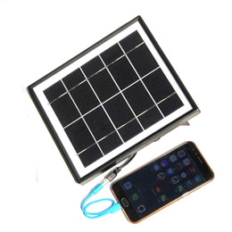 battery free cell phone charger Australia - BUHESHUI 5W 5V Solar Panel Charger Polycrystalline Solar Panel Power System Battery Charger For 3.7V Light +Cable 3M Free Shipping