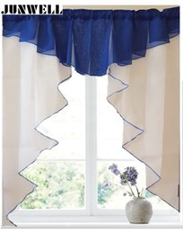 $enCountryForm.capitalKeyWord Australia - 11 colors Fashion Pleated Roman Curtain Design Stitching Colors Tulle Balcony Kitchen Window Curtain Blind 1pc D19011506