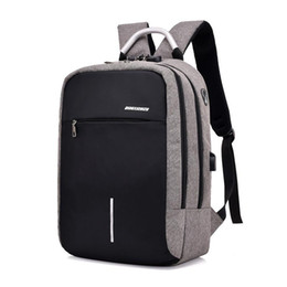 Discount tablet anti theft 15.6 inch Laptop Rucksack Anti-theft Backpack Travel Backpack Large Capacity Business Bags USB Charge College Student Sc
