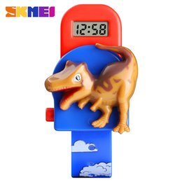 fashion love watch NZ - SKMEI Interesting Kids Watches Fashion Children Watch Creative Dinosaur Model Boys and girls Love Montre Enfan Cool Wristwatch