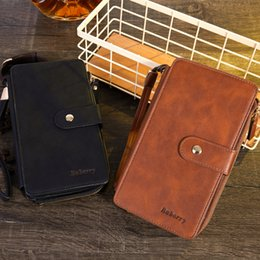 $enCountryForm.capitalKeyWord Australia - 2019 new wallet Men's Leather Wallet Bifold ID Card Holder Purse Checkbook Long Clutch pretty Multifunctional creative model long wallet