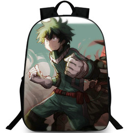 8caa247066ad Izuku midoriya backpack My Hero Academia day pack One for all school bag  Cartoon packsack Picture rucksack Sport schoolbag Outdoor daypack
