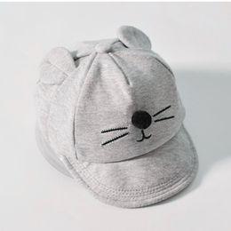 733e8e0fdf1 Brim Hat Cartoon Australia - New Baby With Cartoon Cat Design Kids Baseball  Boy And Sun