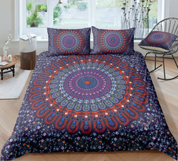 $enCountryForm.capitalKeyWord UK - Thumbedding Dropship Black Red Flowers Bedding Sets Bohemia Design 3D Duvet Cover Set 100% Microfiber Colorful Bed Set