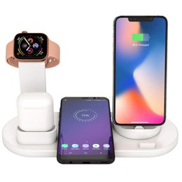 Wholesale 3 in Charging Dock Holder For Apple Watch iPhone X XS XR MAX Plus Airpods Dock Wireless Charger Stand Station