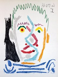 picasso arts UK - Pablo Picasso Lithograph Head I 1966 Home Decor Handpainted &HD Print Oil Painting On Canvas Wall Art Canvas Pictures 200404 002