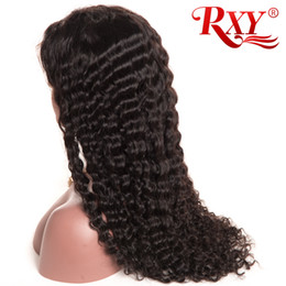 BaBy size 22 online shopping - Malaysian Curly Lace Wig Deep Wave Full Lace Human Hair Wigs With Baby Hair Factory Price Lace Wigs Deep Wave