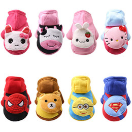 pets clothing Australia - Cartoon Pet Dog Clothes For Dogs Costume Hoodies Winter Dog Coat Jackets Puppy Outfit Pet Overalls For Dogs Pets Clothing XS-XXL Wholesale