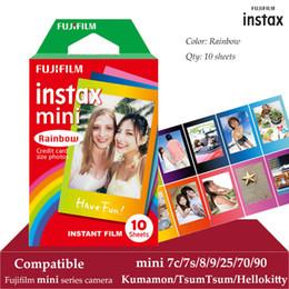 $enCountryForm.capitalKeyWord Australia - Instax Mini Film Rainbow 10 Sheets For FUJI Instant Photo Camera Mini 9 8 7s 70 90 25 Smartphone Printer SP-2 SP-1