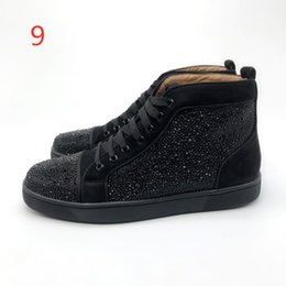 Design Genuine Leather NZ - Designs Shoes Spike Junior Calf Low Cut Sneakers Red Bottom Sneaker Luxury Party Wedding Shoes Genuine Leather Spikes Lace-up Casual Shoes