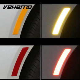 $enCountryForm.capitalKeyWord Australia - Vehemo 2017 1Pcs Reflective Warning Strip Tape Car Wheel Eyebrow Bumper Reflective Warning Strip Stickers Auto Supplies 14*2.3CM