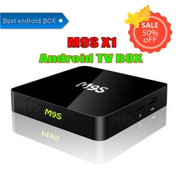 android smart tv box dhl NZ - 5 PCS DHL M9S X1 Android ott smart tv box Amlogic S905X Quad Core 2.4G WiFi 4K 3D H.265 Media Player smart IPTV Set top tv Box