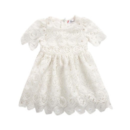 b374e3efb70f Newborn Kids Baby Girls Princess Floral Lace Dress Party Pageant Tutu  Dresses Vestido Infantil Baby First Birthday Party Dress