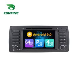 5.7 Inch Touch Screen Australia - Android 9.0 Core PX6 A72 Ram 4G Rom 64G Car DVD GPS Multimedia Player Car Stereo For BMW 5-E39 BMW X5-E53 Radio Headunit