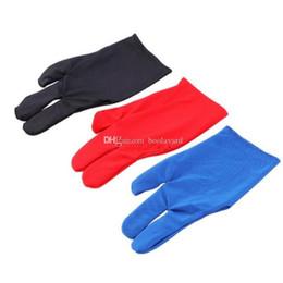 Snooker billiard pool online shopping - Durable Nylon Fingers Glove for Billiard Pool Snooker Cue Shooter Black
