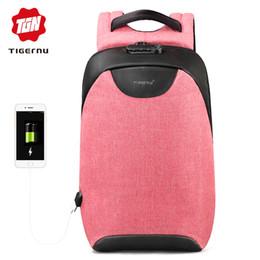 $enCountryForm.capitalKeyWord Australia - Tigernu Women Anti Theft Tsa Lock Female Laptop Backpack Usb Charge School Bag For Teenager Girls Feminine Backpacks Bagpack Y19051405