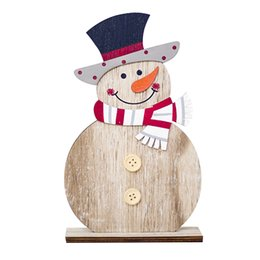 pendants for crafts 2019 - Christmas Pendant Drop Orname Snowman Wooden Shapes Christmas Ornaments Craft Xmas Gifts Decorations for home window che
