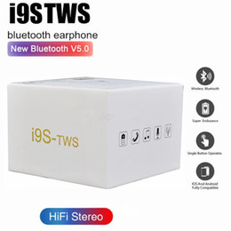 i9 i9s TWS wireless Headphone Stereo bluetooth 5.0 Earphones earbuds for IOS Android Phone + magnetic Charging Box silicone protector case on Sale
