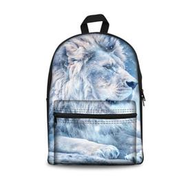 470bbfbc7c NoisyDesigns School Bag For Teenage Students Shoulder S Girls School  Backpack Lion Animals Roar Printing Rucksack