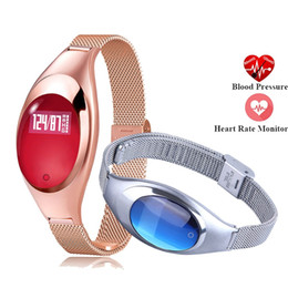 $enCountryForm.capitalKeyWord Australia - Z18 Women Fashion Smart Watch Heart Rate Monitor Fitness Tracker Lady Smart Bracelet Band for Android IOS