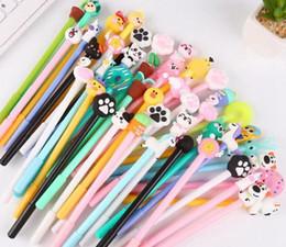 $enCountryForm.capitalKeyWord Australia - 20 pieces Creative cartoon gel pens demon chick Bunny Flamingo emoji unicorn doughnut office school stationery