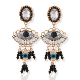 $enCountryForm.capitalKeyWord Australia - Brandjewelryyy latest popular glass bright color stone crystal zinc alloy big earrings ladies print ring orecchini earrings bijoux ladies la