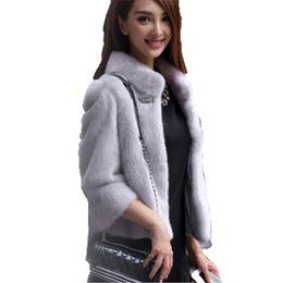 $enCountryForm.capitalKeyWord Australia - Faux fur coat Winter new Korean S-2XL plus size white gray black long sleeve short section thick fashion Faux fur jacket JD391