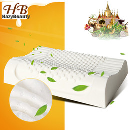 latex beds Australia - Thailand Natural Latex Bed Cervical Pillow Health Care Orthopedic Pillow for Neck Dunlopillo Latex Foam Pillow Sleeping Almohada SH190925