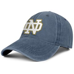 62758c77 Notre Dame Fighting Irish football logo Cowboy hat mens baseball hat  stylish adjustable woman basketball cap vintage Hip-hop cap mesh summe