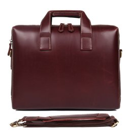 Wholesale Man Briefcase Genuine Leather Genuine Leather Laptop Bag Handbags Cowhide Men Crossbody Bag Men s Travel Brown Briefcase