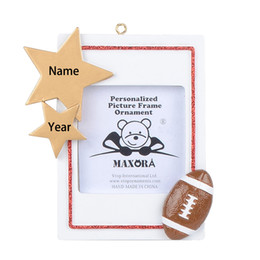 school picture UK - Personalized Sport Frame Christmas Ornament-Picture Display Football Soccer Baseball Basketball School Team Photo Memory Gift