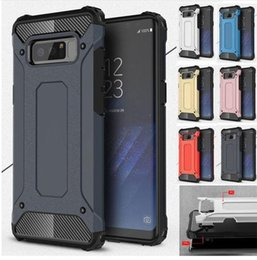 Durable Phones Australia - Luxury Hybrid Durable Armor Phone Case For Samsung Galaxy S10 S9 S8 Plus S7 S6 Edge S5 S10E S 10 Note 8 9 Tough Shockproof Protect Cover