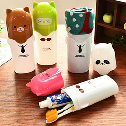 plastic tooth holders NZ - Portable Tooth Brush Container Travel Organizer Toothbrush Toothpaste Protect Holder Storage Box Toothbrush holder