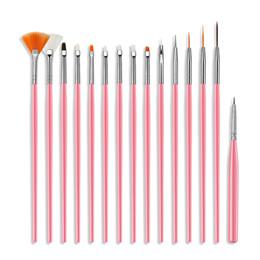 Wholesale Tamax Nail Brushes Builder Gel Polish Painting Liner Nail Art Draw Print Brushes Set Manicure DIY Dotting Point Tool Kits