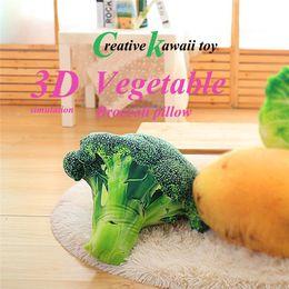 Discount idea toy - Latest Hot Product Ideas Kawaii Toys 3D Simulation Vegetable Broccoli Pillow Office Sofa Cushion Velvet Fruit Vegetables