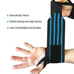 Großhandel Atmungsaktiver Handgelenkstützgurt umschließt elastische Bänder Gürtel Armband SupportFitness Training verstellbares Handgelenkband Heißer Verkauf Neu