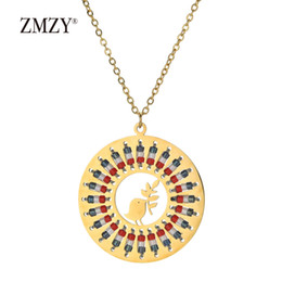 Boho style jewelry online shopping - ZMZY Boho Style Bird Jewelry Gold Color Peace Dove Statement Necklace Women Sieraden Stainless Steel Pigeon Laurel Leaf Pendant