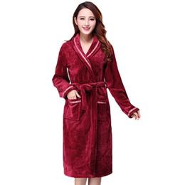 887e58701e Winter flannel Woman robe Warm online shopping - Sexy Women Robe Gown Winter  Flannel Sleepwear Thcik
