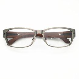 $enCountryForm.capitalKeyWord UK - 2019 New Arrival Men Metal with Wooden Classical Glasses Frames Designer Eyglasses Fashion Prescription Eyewear 334 Lenses oculos
