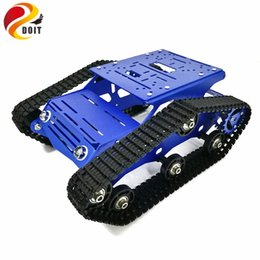 robot controllers Canada - Tracked Robot Chassis YP100 with Aluminum Alloy Frame 12V 320RPM High Power Motor Plastic Tracks for Robot Project Design