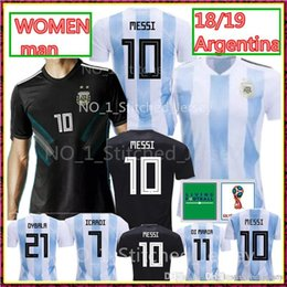 03a3ad26f NEW 2018 Argentina world cup Soccer Jersey 18 19 Thailand Argentina  10  MESSI soccer shirt  21 DYBALA  9 AGUERO home Football uniforms